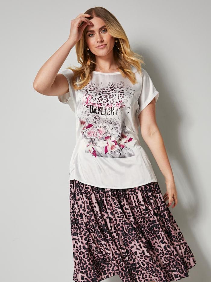 Angel of Style Shirt mit Animalprint, Off-white/Pink