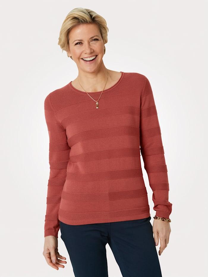 MONA Pullover aus Pima-Baumwolle, Terracotta