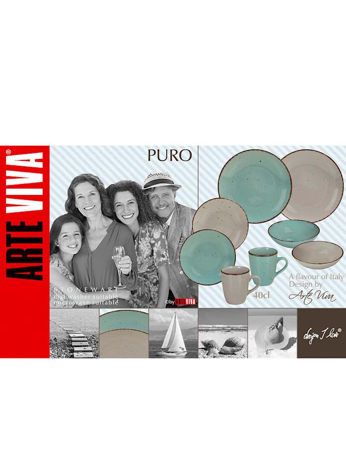 Arte Viva Kaffeservis i 16 delar – Puro, Blå