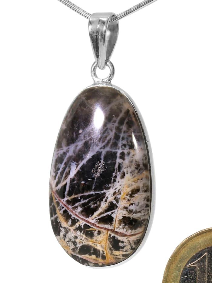 1001 Diamonds Damen Schmuck Edelstein Pilbara Jaspis Anhänger 925 Silber bunt, bunt