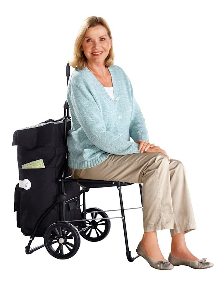 Shoppingvagn med väska och sits