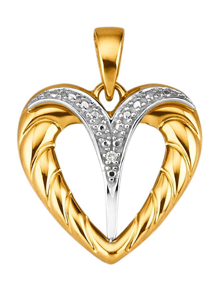 Hanger met 1 diamant, Geelgoudkleur