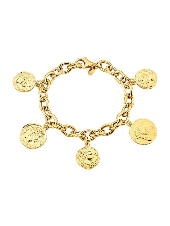 Diemer Silber Armband met Romeinse afbeeldingen, Geelgoudkleur