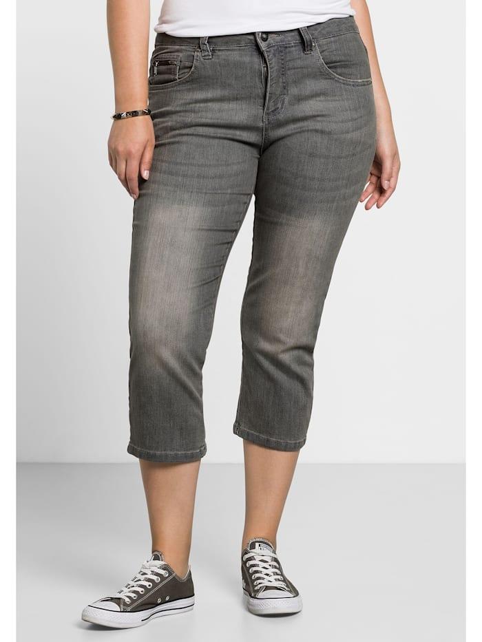 Sheego Capri-Jeans, grey Denim