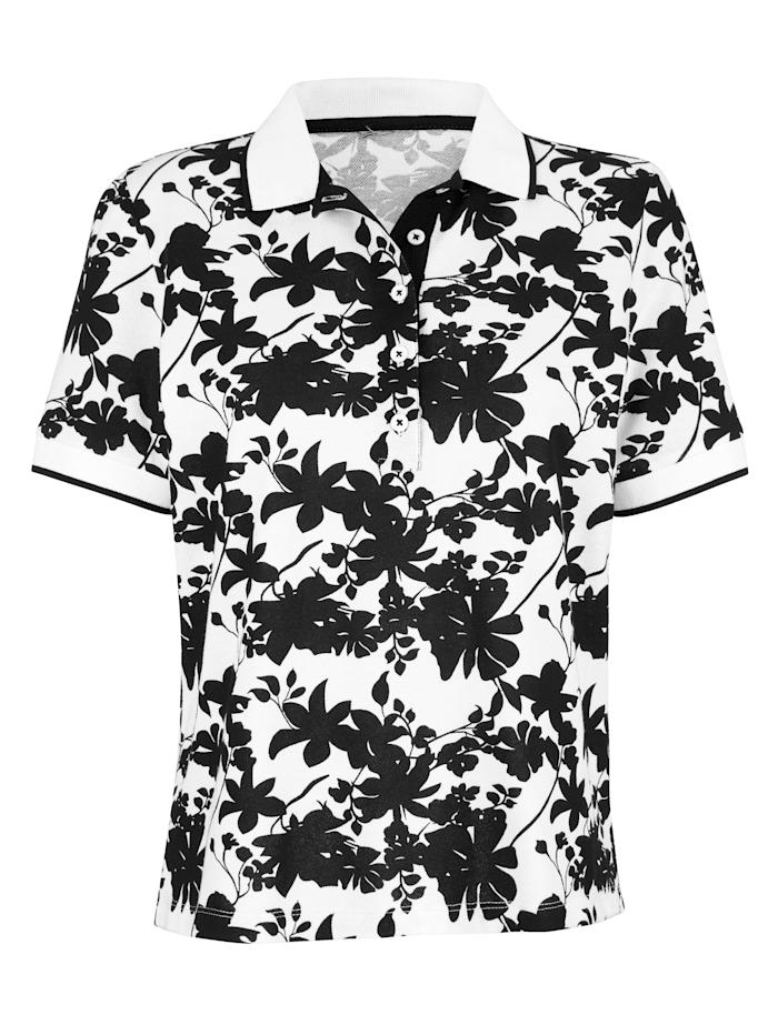 Polo à motif floral devant et dos