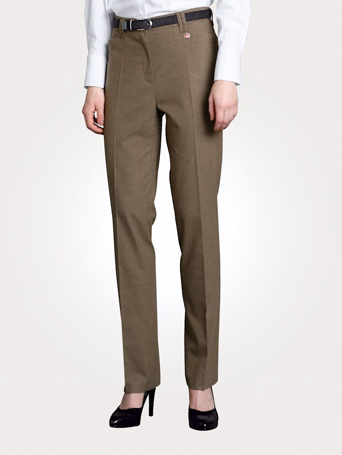 Relaxed by Toni Trousers Zip and button fastening, Beige
