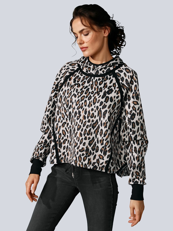 MARGITTES Sweatshirt mit Kapuze, Off-white