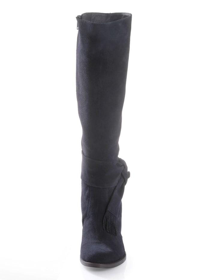 Stiefel aus Ziegenveloursleder