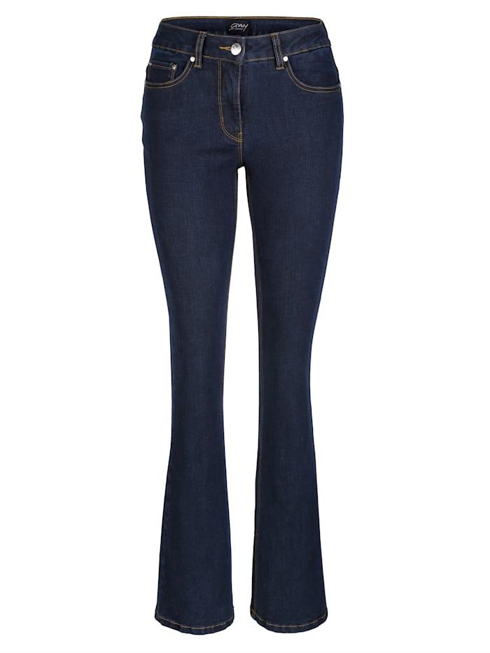 AMY VERMONT Jeans mit weitem Bein, Dunkelblau