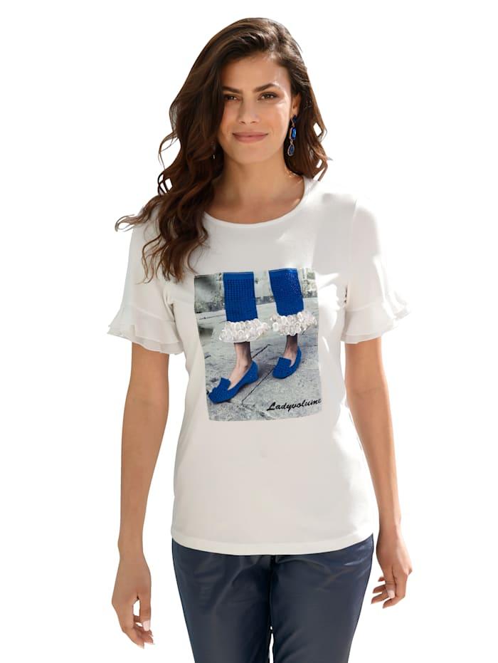 AMY VERMONT Shirt met strassteentjes en pailletten, Wit