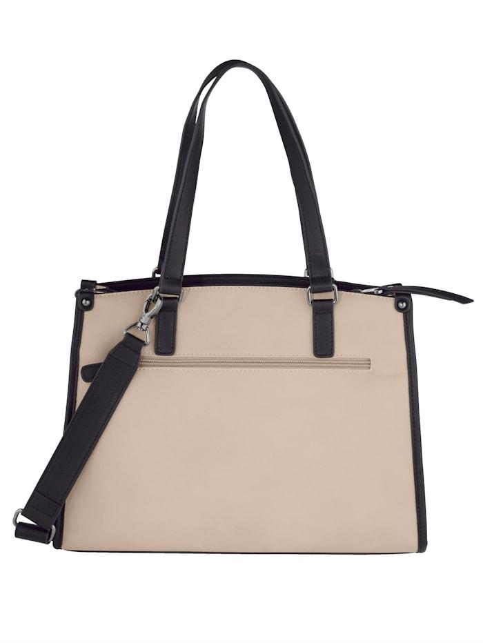 Handbag with an elegant snake print