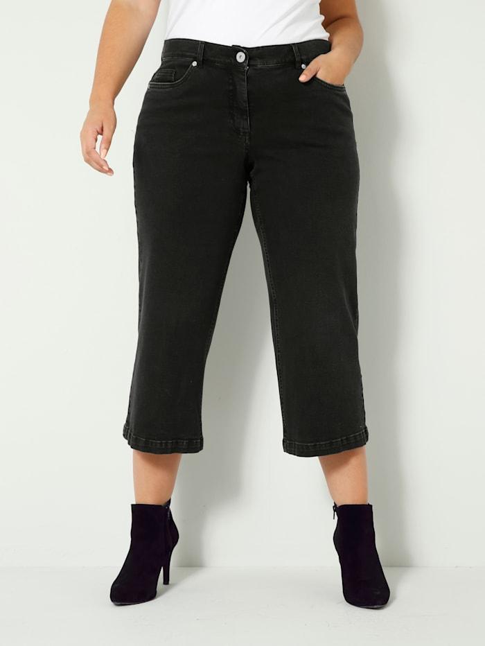 Sara Lindholm Jeans aus leicht elastischem Denimmaterial, Schwarz
