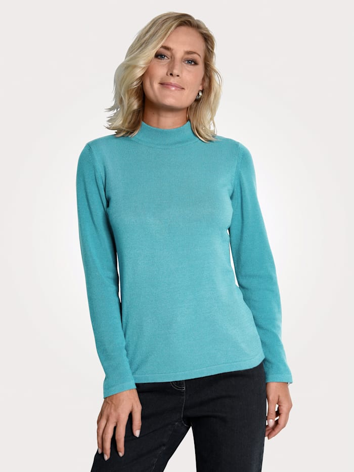 MONA Jumper made from a premium-quality fabric, Turquoise