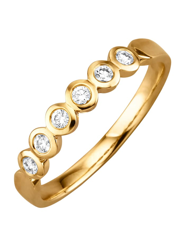 Diemer Diamant Kultainen timanttisormus, Keltakullanvärinen