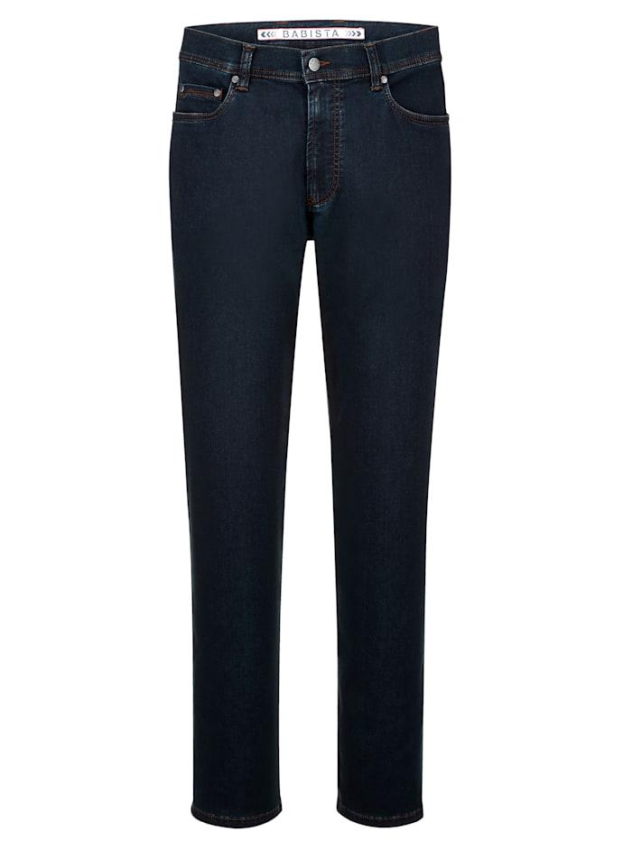 BABISTA Jeans i mjukt material med lyocell, Mörkblå