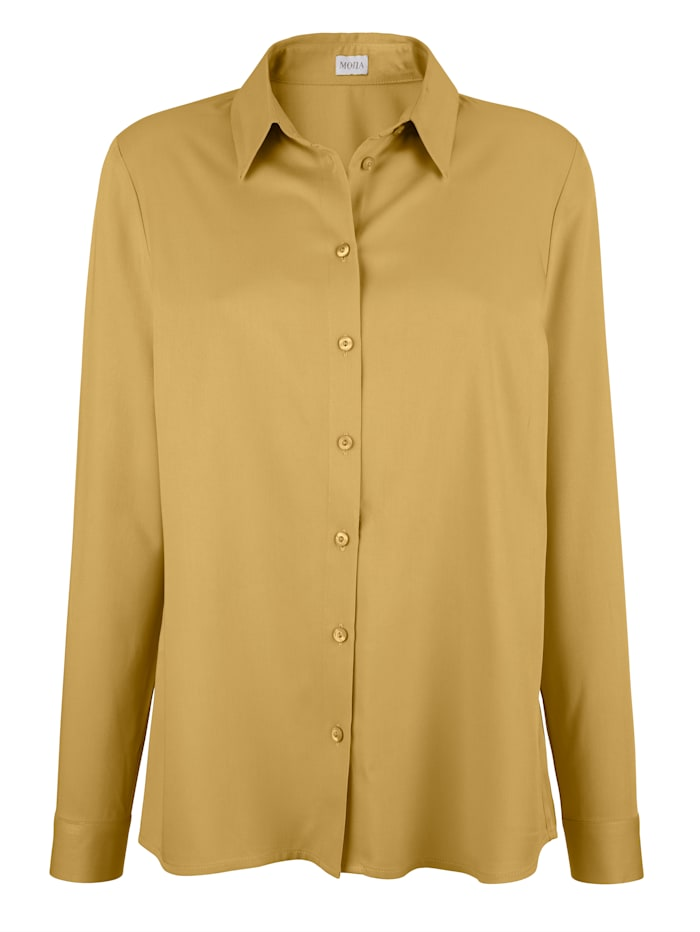 MONA Blouse made from a soft fabric, Mustard