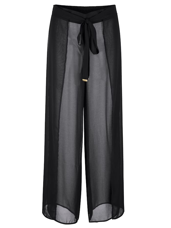 MICHAEL Michael Kors Strandhose mit hohen Schlitzen, Schwarz
