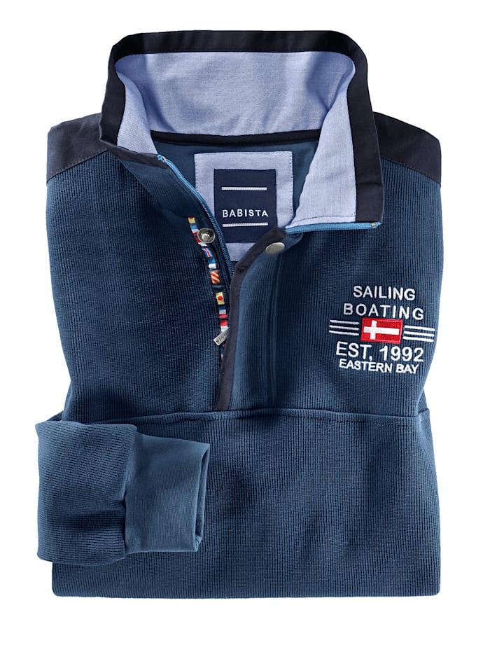 Sweat-shirt avec un col haut de gamme