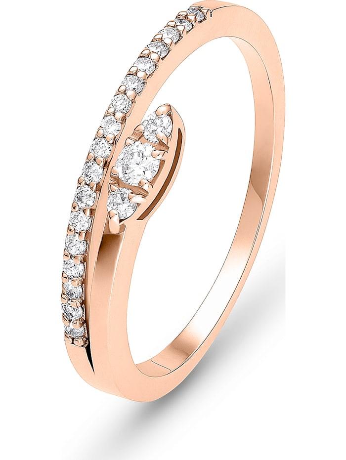 CHRIST Diamonds CHRIST Diamonds Damen-Damenring 21 Diamant, roségold