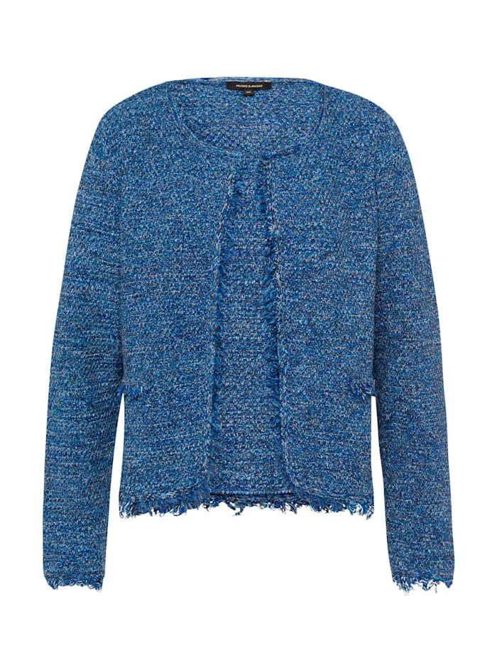 MORE & MORE Cardigan mit Fransen, ink blue, blau