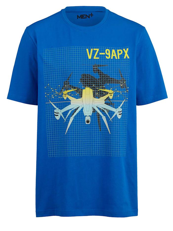 Men Plus T-shirt med tryck, Blå