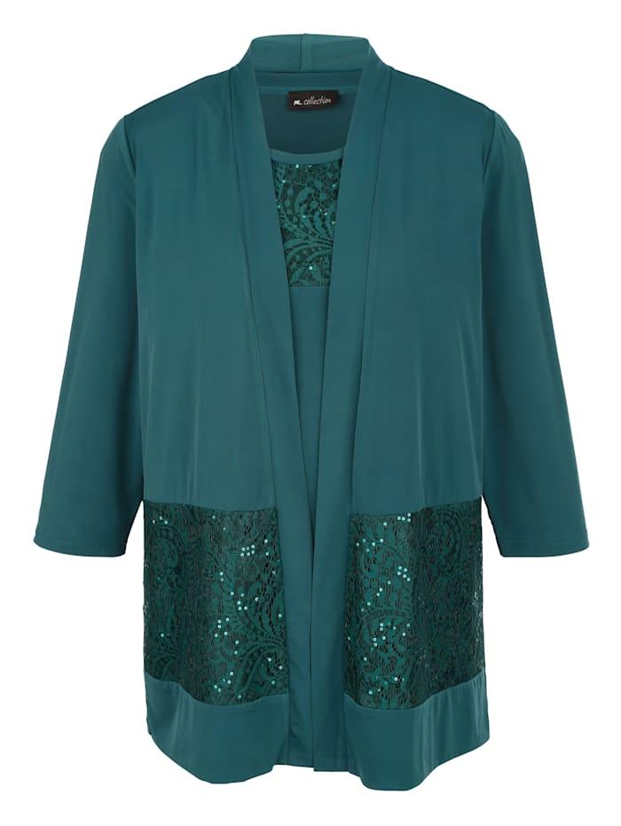 m. collection Set bestaande uit een jasje en een topje, Groen