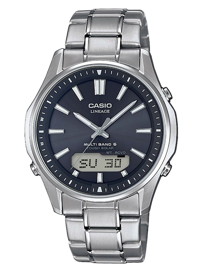 Casio Herren-Solar-Funk-Uhr Chronograph LCW-M100TSE-1AER, Silberfarben