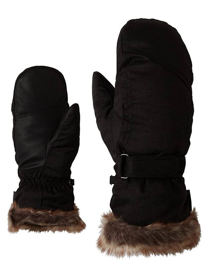 Ziener KEM MITTEN lady glove, Black-stru