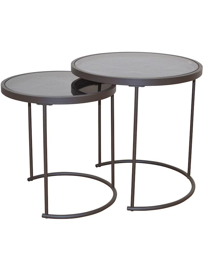 Möbel-Direkt-Online Beistelltische 2tlg. 2-Satz-Tisch, schwarz
