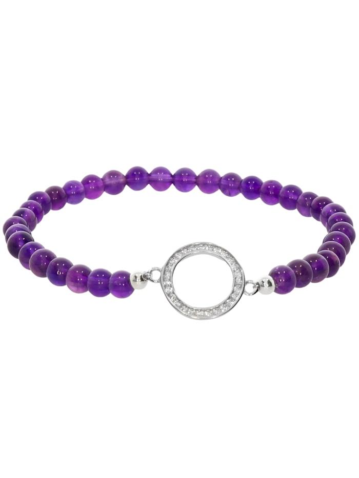1001 Diamonds Amethyst Armband 925 Silber 17 cm, violett