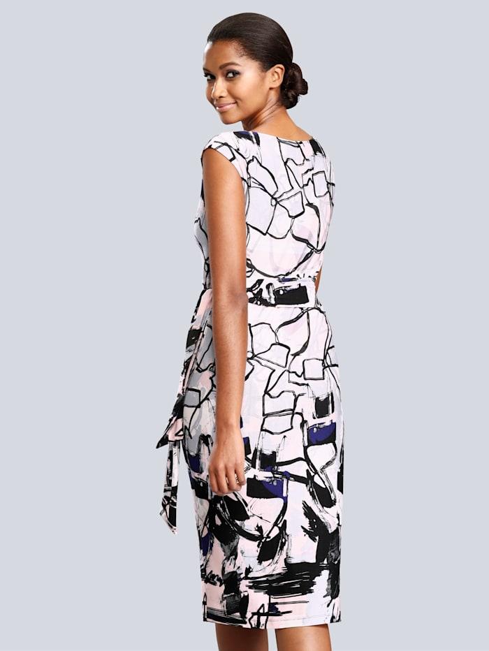 Kleid mit allover Grafik-Dessin