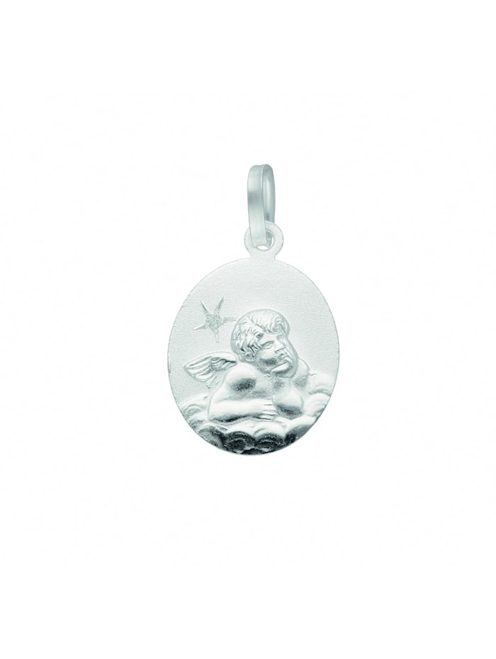 1001 Diamonds Damen Silberschmuck 925 Silber Anhänger Amor mit Diamant, silber