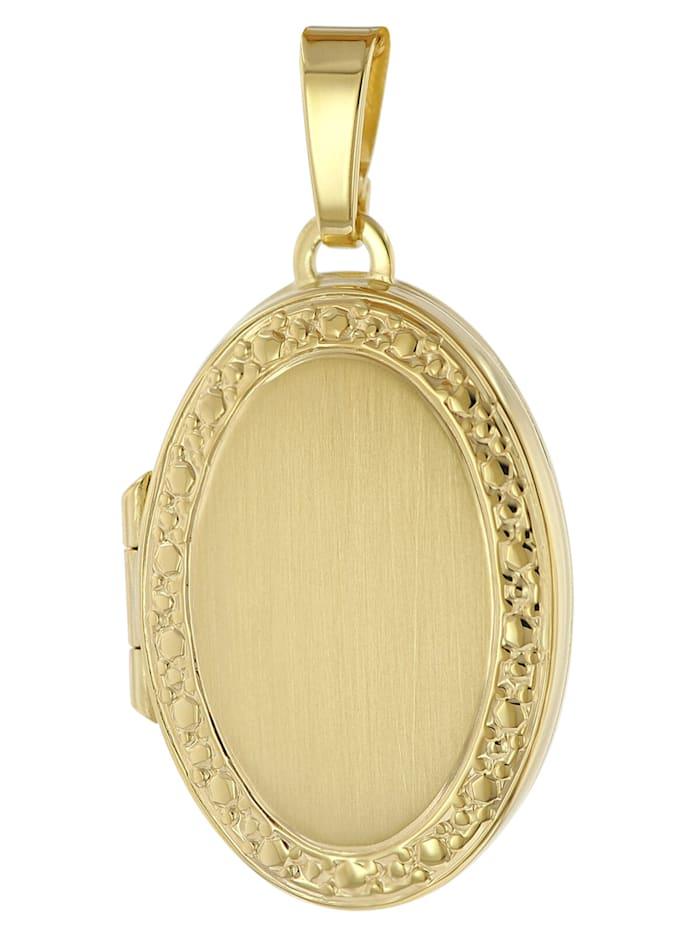 trendor Medaillon Anhänger 333 Gold (8 Karat), Goldfarben