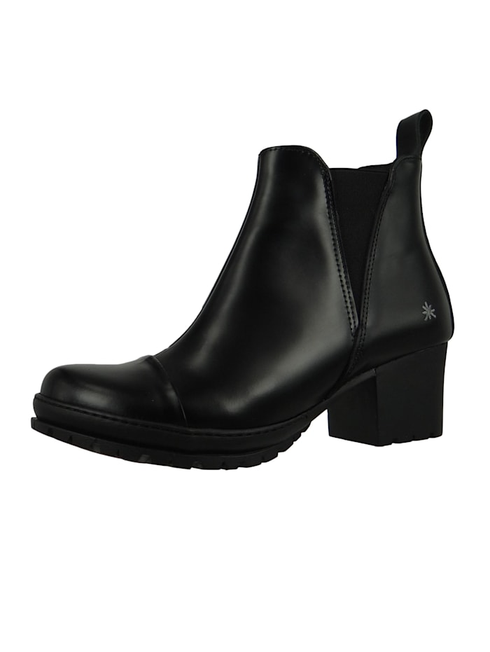 *art Damen Leder Stiefelette Ankle Boot Camden Black Schwarz 1233, Black
