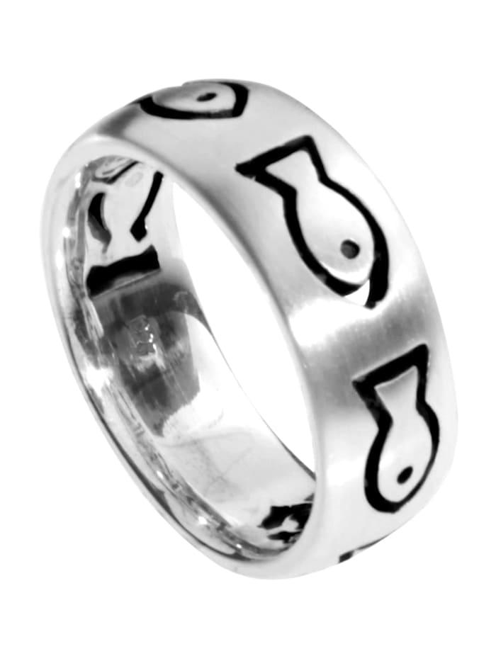 OSTSEE-SCHMUCK Ring - Fisch - Silber 925/000 - ,, silber