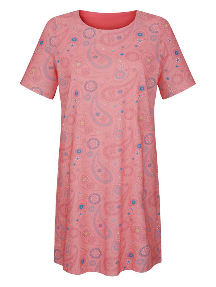 Nachthemd Met een trendy patronenmix