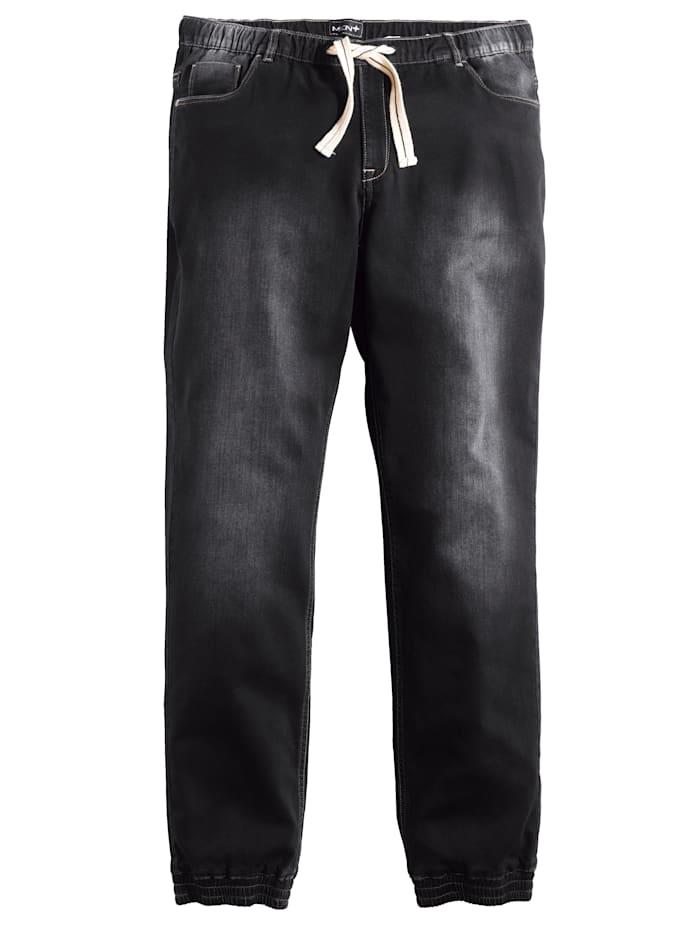 Men Plus Sweatpants in usedlook, Zwart