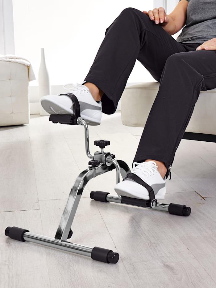 Träningsredskap med pedaler för effektiv, skonsam träning, grå