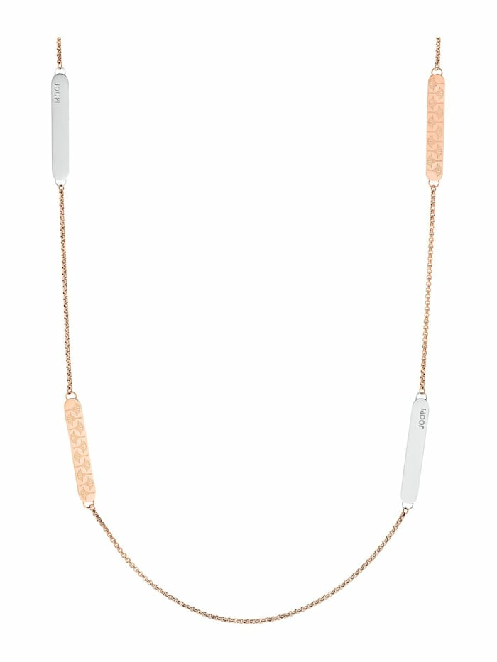 JOOP! Halskette für Damen, Edelstahl IP Rose bicolor, Bicolor