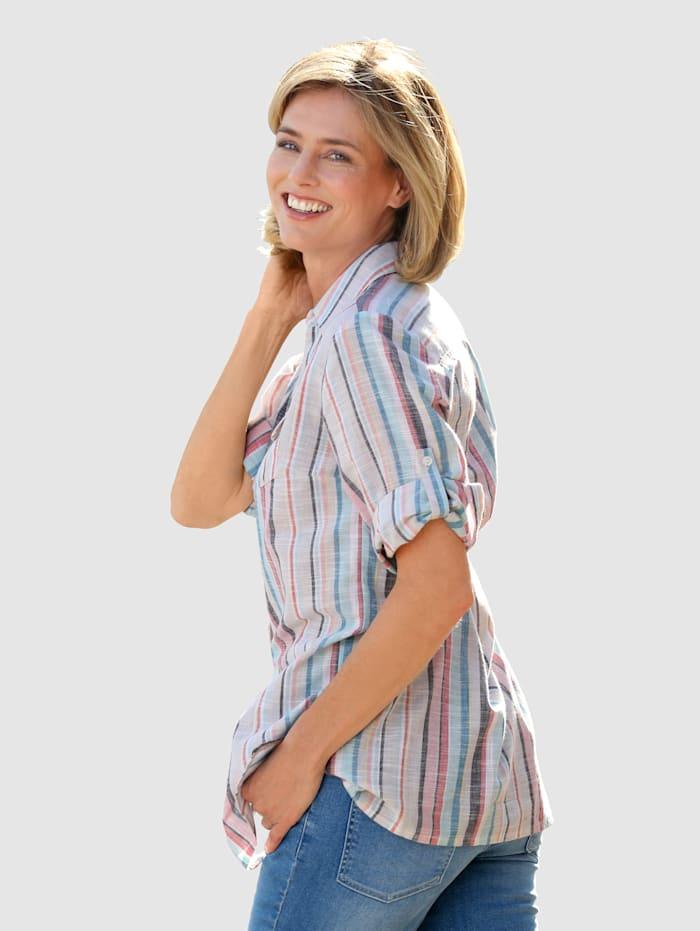 Bluse i lang modell