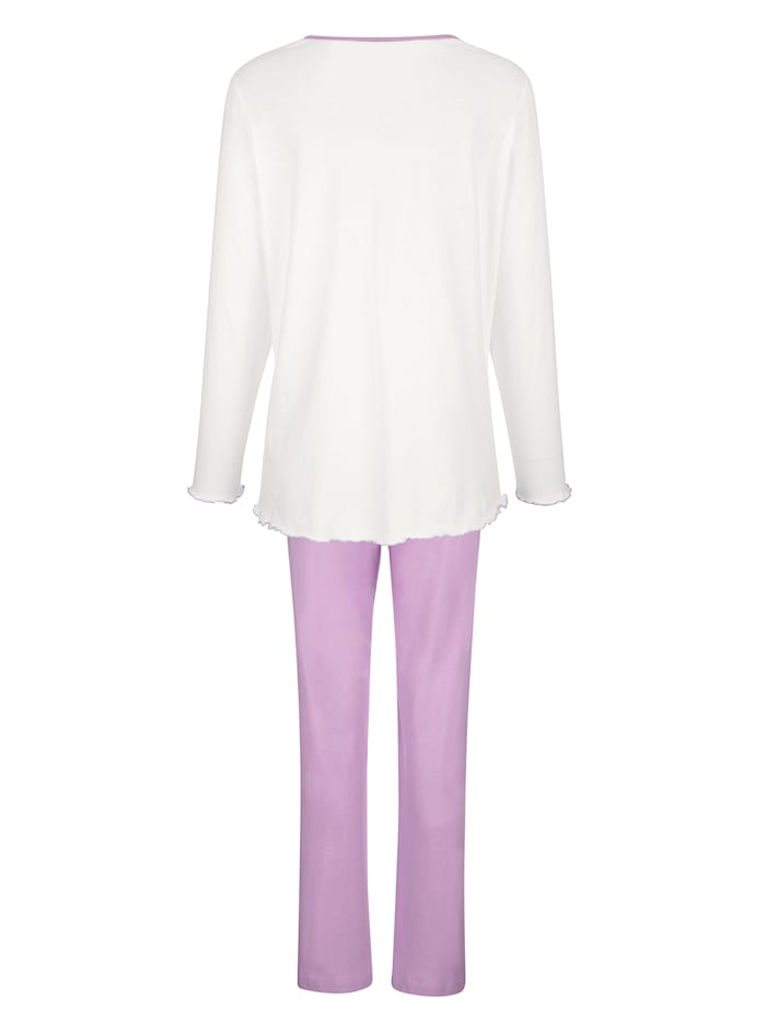 Pyjamas par lot de 2 à jolies finitions ondulées