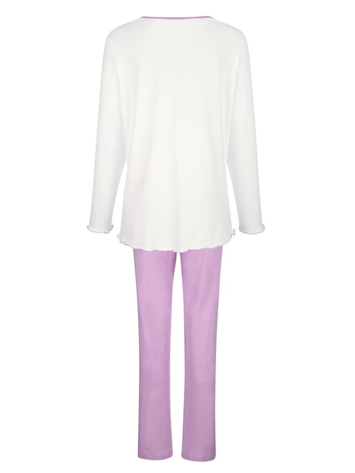 Pyžamy, 2ks s vlnkami na lemovaní