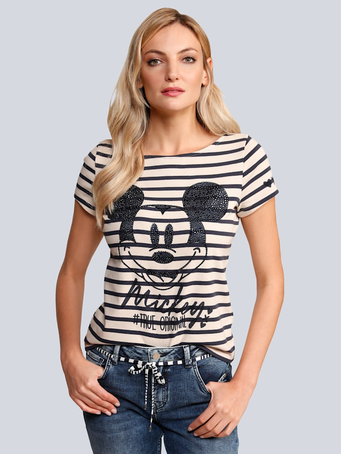 Princess GOES HOLLYWOOD T-Shirt mit großer Mickey Mouse, Blau