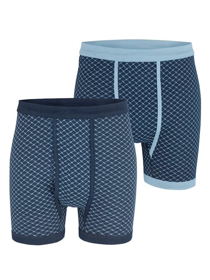 Boxershorts, Marine/Blauw