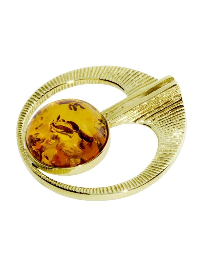 Anhänger - Gleiter-Torid - Gold 333/000 - Bernstein