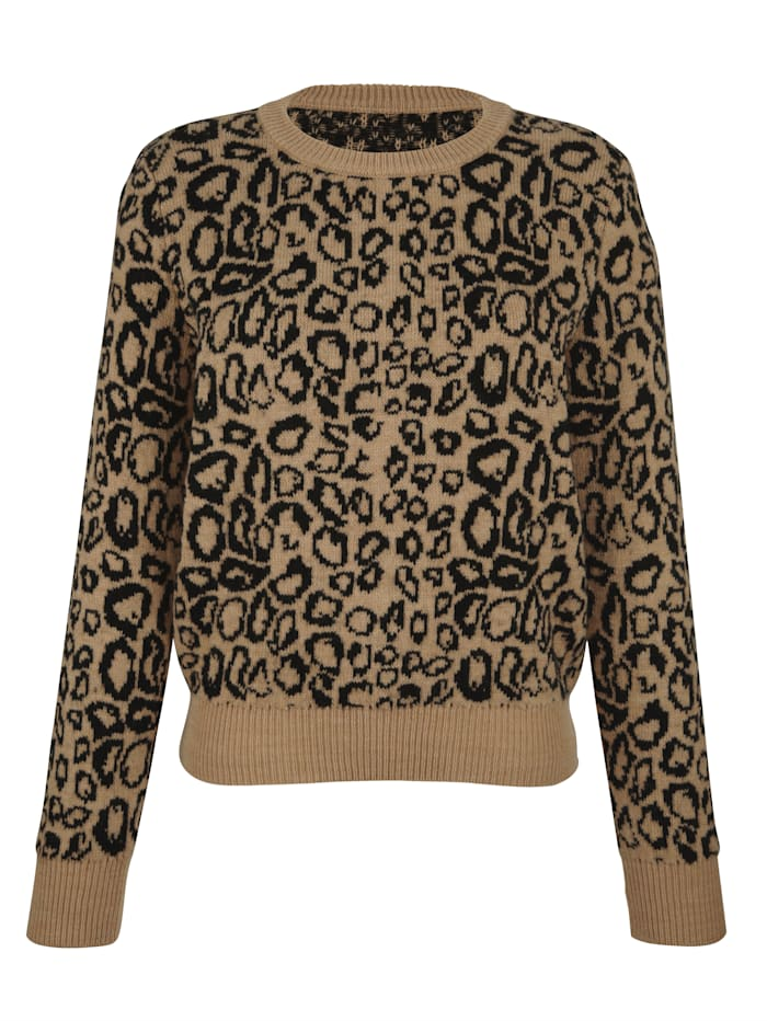 Pullover mit Leo-Muster