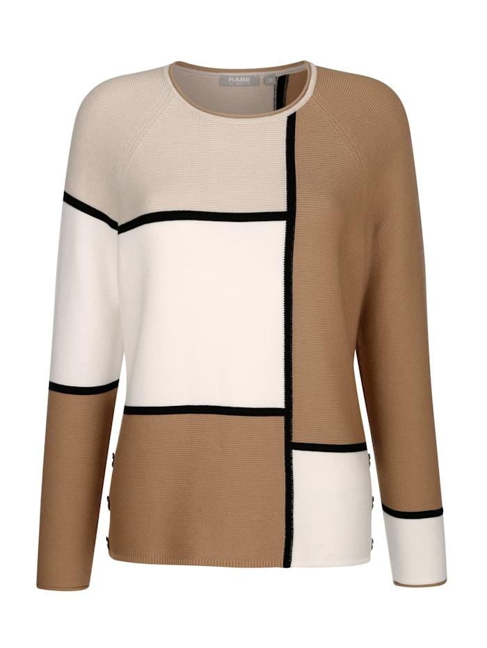 Pullover mit grafischem Dessin