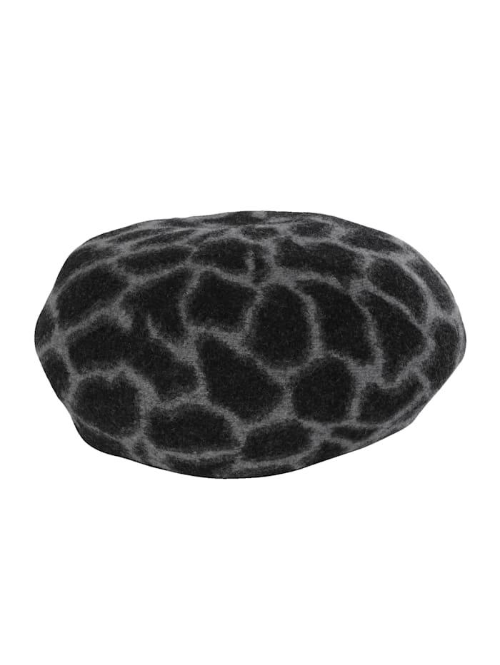 Béret à motif léopard