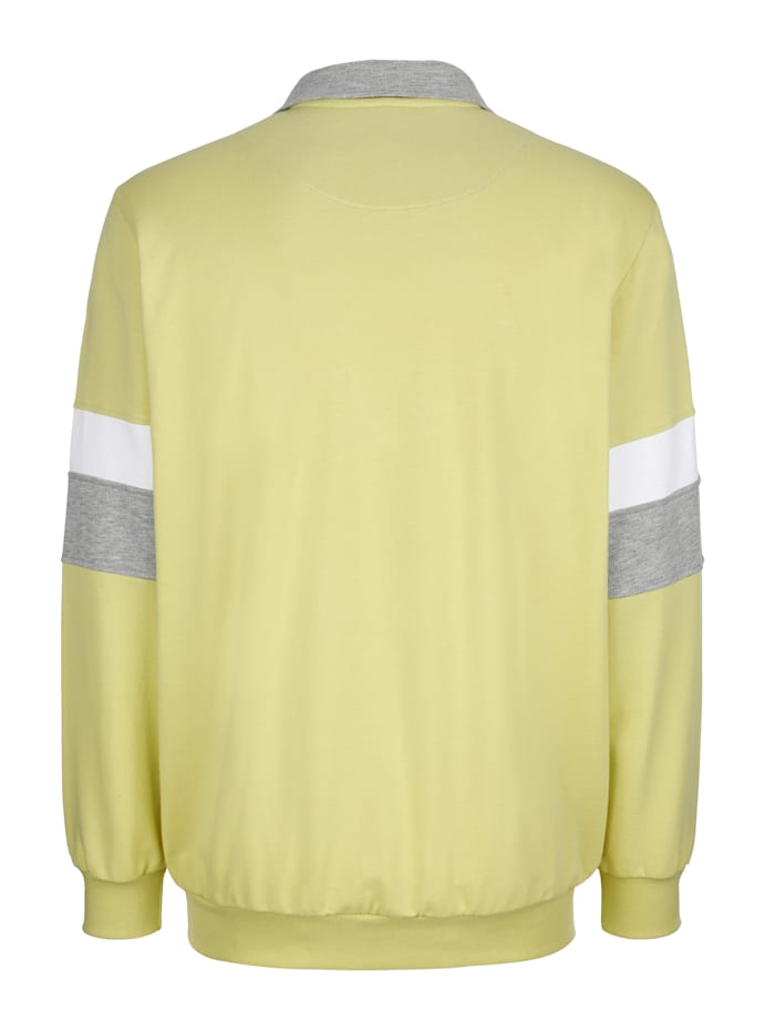 Sweat-shirt à finitions contrastantes