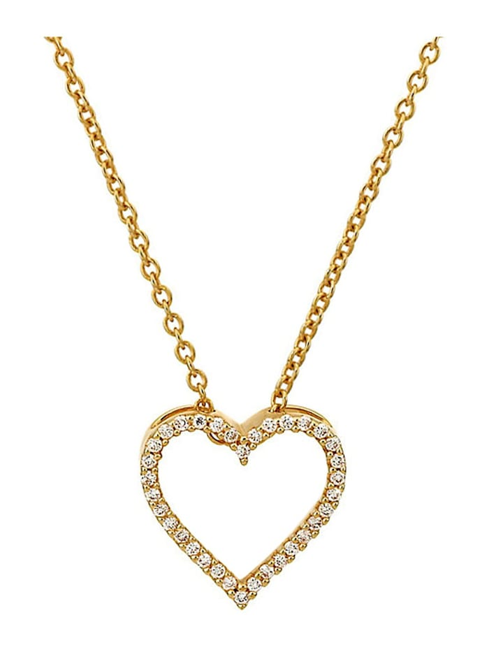 CHRIST Diamonds Damen-Kette 375er Gelbgold 34 Diamant